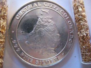 oz Pure 999 Silver Historic Central City Co Prospector Bullion
