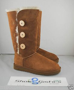 UGG Bailey Button Triplet 1873 Chestnut New Sz 5 10 Che