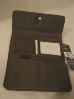 Nwt Authentic Tommy Hilfiger Logo Womens Checkbook Wallet Khaki