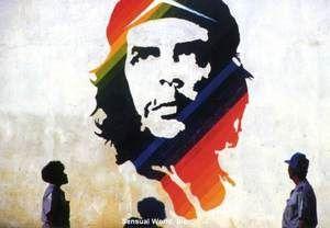 Che Guevara Postcard Cuba Mural Marxist Revolutionary