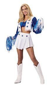 Cheerleader NFL Skirt Dress Up Sexy Adult Halloween Costume
