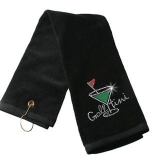 Golf Foxyware Golf Ladies Bling Rhinestone Golf Towel Golftini