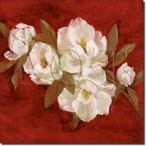 Cook Magnolia Floral Kitchen Bath Ceramic Tile Accent