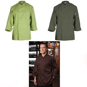 Chef Works Professional Colored Chef Coat Coats Unisex Olive Lime