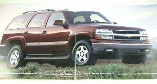 2004 04 Chevrolet Chevy Tahoe Truck Brochure LS Z71 Lt
