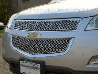 2009 2010 Chevy Traverse 2pc ABS Grille Grill Overlay