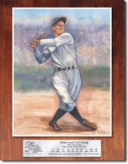 Lou Gehrig Legends Baseball Metal Tin Sign Poster