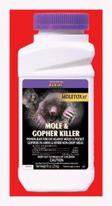 Moletox II Mole Killer Bait 696 3 5oz Kills moles gophers zinc