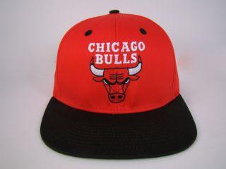 Chicago Bulls Snapback Hat Red NBA Michael Jordan