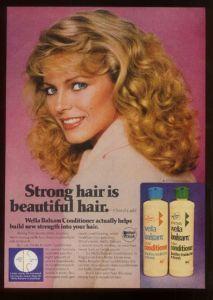 1980 Cheryl Ladd Photo Wella Balsam Shampoo Ad