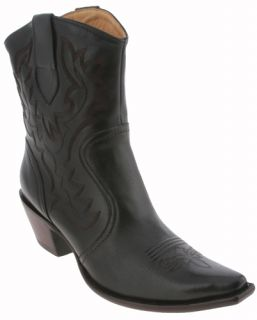 Charlie 1 Horse by Lucchese Black I4928 Womens Western Ankle Boots