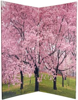 ft Tall Double Sided Cherry Blossoms Room Divider