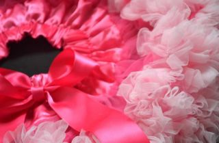 Pink Child Baby Toddler Girls Skirt Princess Bows Pettiskirt Tutu 1 6