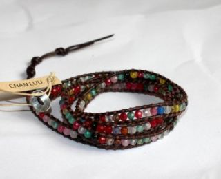 Chan Luu Multi Wrap Bracelet on Natural Brown Leather Christmas Gift