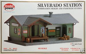 Silverado Station Depot Model RR Building Kit HO 1 87 by Model Power