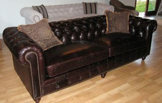 Tufted Leather SofaKensington / Chesterfield Restoration style