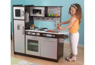 New KidKraft Uptown Childrens Kids Wooden Pretend Play Kitchen