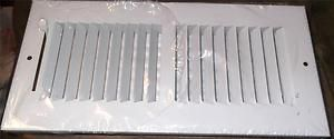 White AC A C Air Conditioner Heater Register Vent Grill Filter NIP