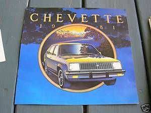 1981 81 Chevy Chevrolet Chevette Sales Brochure Book