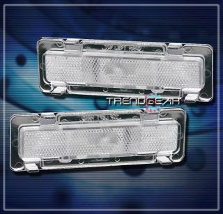 85 92 Chevy Camaro Front Side Marker Signal Lights Lamp Chrome 86 87
