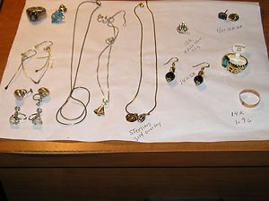 junk drawer or not 14k gold 10k gold sterling silver ring necklaces