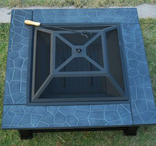 New Fire Pit Square Firepit Heater Outdoor with Cover