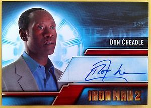 Marvel Iron Man 2 Movie Autograph Auto Signed Card Don Cheadle