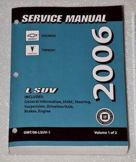 2006 Chevrolet Equinox & Pontiac Torrent  Factory Service Manuals