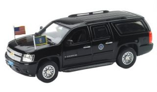 Luxury Diecast 1 43 Chevy Suburban Armored Presidential Escort Vehicle