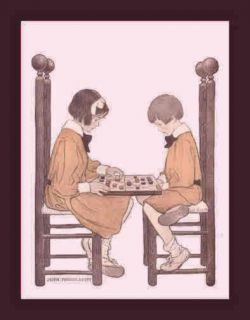 children play checkers jessie willcox smith 1908 this large and