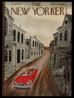 1953 Charles Addams Ghost Town Art New Yorker Cover