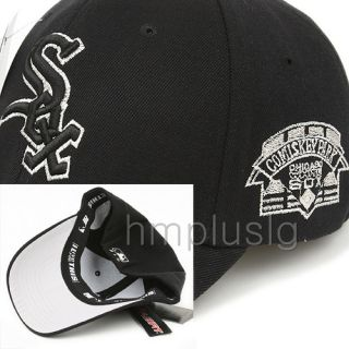 Chicago White Sox Flex Fit Ball Cap Hat MB Silver Black