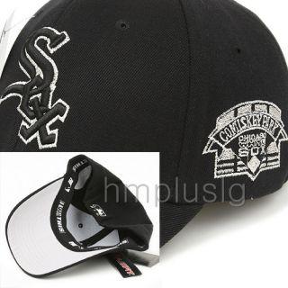 Chicago White Sox Flex Fit Ball Cap Hat MB Silver Black