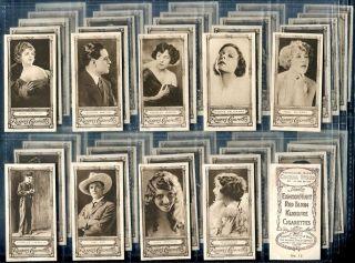 Tobacco Card Set Edward Ringer Bigg Cinema Stars Actor Actress 1923