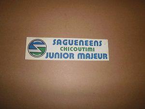QMJHL Chicoutimi Sagueneens Vintage Logo Bumper Sticker