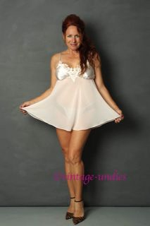 Belle Nuit Pink Baby Doll Sheer Chiffon Nightie Oh La La
