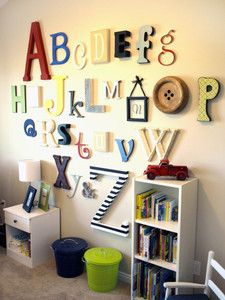 Alphabet Set Wooden Letters PAINTED 12 to 6 sizes