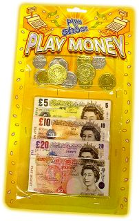 Childrens Kids Toy Play Money Notes & Coins Set Fun Game Toy Shop Role