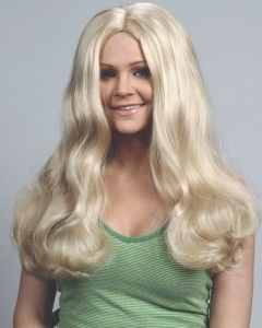 Cheryl Ladd Charlies Angels Costume Long Blonde Wig