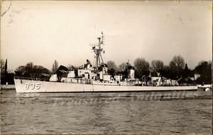 1954 US Navy USS Charles P. Cecil DD 835 Destroyer Ship Real Photo