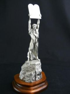 Chilmark Pewter Moses Ten Commandments RARE 1978 Statue