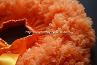 Orange Children baby toddler Girls skirt bows Pettiskirt Tutu 5 6 yrs