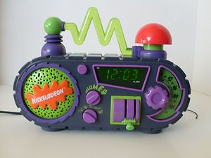NICKELODEON TIME BLASTER ALARM CLOCK AM FM RADIO KIDS CHILDS