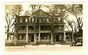 Chestertown NY Rising House Hotel RPPC Postcard Adirondacks