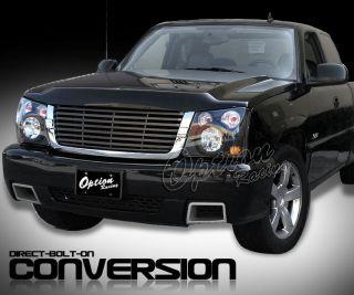 03 04 05 06 Chevy Silverado Conversion Grille Headlight