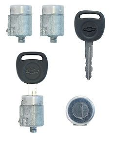 Chevrolet Express Van 4 Door Lock Cylinder SET w/2 Keys Right, Left