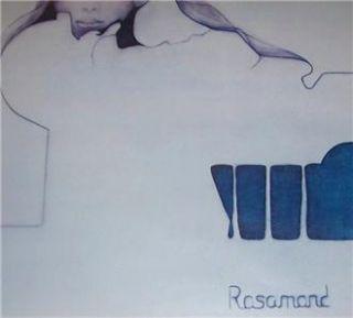 1974 Christine Rosamond Blue Ice Lithographic Print Art Ira Roberts