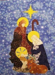 Laser Quilt Applique Christian Christmas Nativity