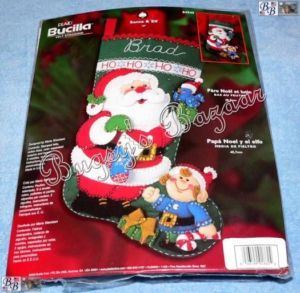 Bucilla Santa Elf Bird Felt Christmas Stocking Kit