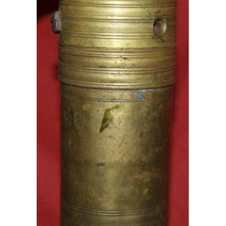 Antique 19c Arabic Islamic Brass Coffee Nuts Grinder Mill with